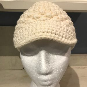 Banana Republic Wool Cream Knit Hat